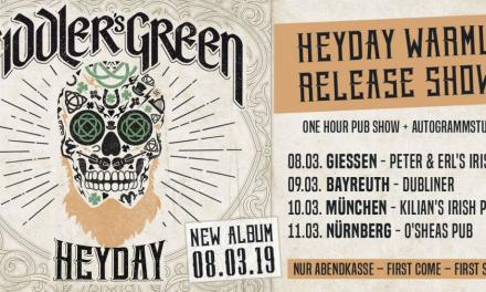 Fiddler's Green – HEYDAY Release Show – Peter & Erl's Irish Pub Giessen – 08.03.2019